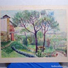 Arte: ACUARELA ANÓNIMA.. Lote 191119385