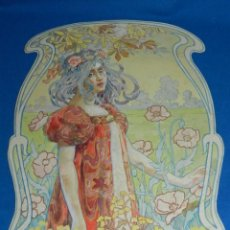 Arte: (M) ACUARELA DE JOSEP GUARDIOLA 1903, DIBUJO MODERNISTA, 36X24 CM, BUEN ESTADO DE CONSERVACIÓN. Lote 191170823