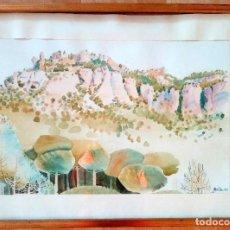 Arte: ANTIGUA ACUARELA LA MOLA (AÑOS 70). Lote 191197075