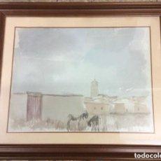 Arte: EDUARDO VICENTE (MADRID 1909-1968)ACUARELA ORIGINAL, FIRMADA 85X75 GASTOS DE ENVÍO 25€. Lote 191260468