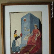 Arte: D'IVORI. JOAN VILA I PUJOL - FANTÁSTICA ACUARELA EN COLOR. FIRMADA D'IVORI. Lote 191616908