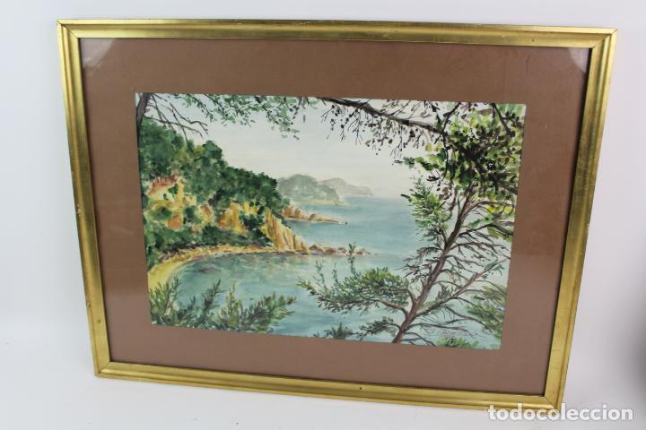 Arte: C-975. ACUARELA SOBRE PAPEL, PAISAJE. FIRMADO F. AMAT K. 1989. - Foto 2 - 191761356