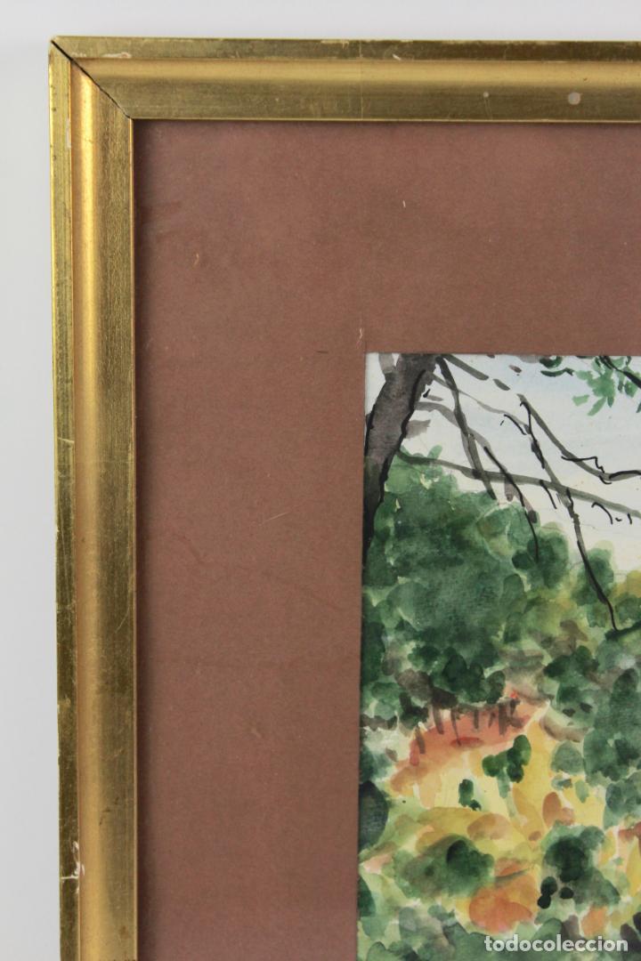 Arte: C-975. ACUARELA SOBRE PAPEL, PAISAJE. FIRMADO F. AMAT K. 1989. - Foto 7 - 191761356