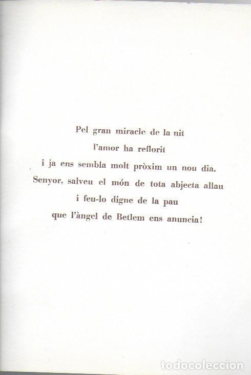 Arte: Nadal 1944. Exemplar únic destinat al poeta Tomàs Garcés. Autor: J. Commeleran (1902-1992). 26x16cm - Foto 3 - 191771546