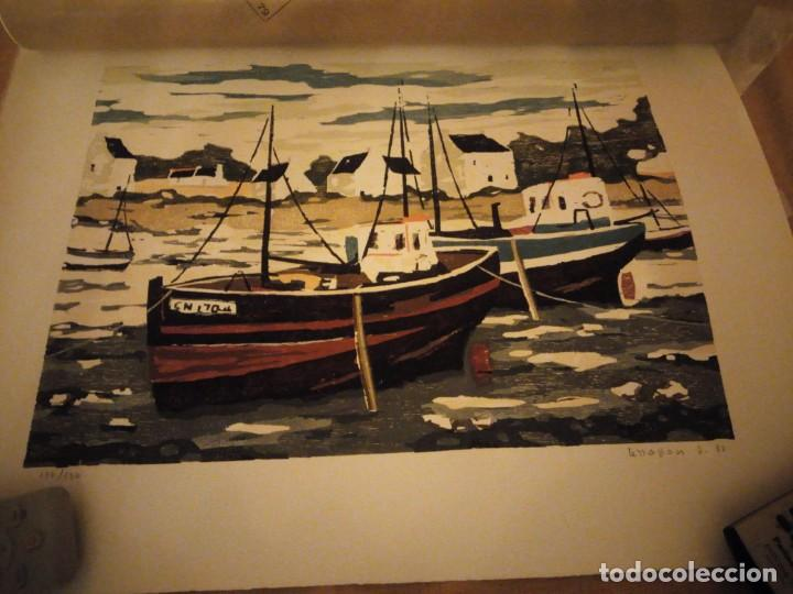 Arte: Acuarela barcos pesqueros,127/130, tellapon j. 82 - Foto 2 - 191838100