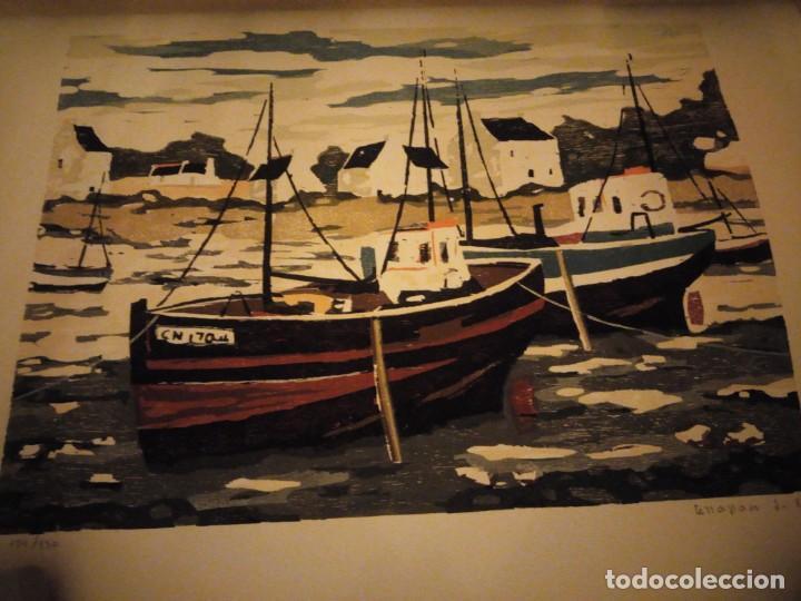 Arte: Acuarela barcos pesqueros,127/130, tellapon j. 82 - Foto 3 - 191838100