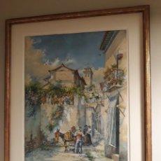 Arte: ACUARELA DE GRANADA DE ENRIQUE MARÍN. Lote 192213910