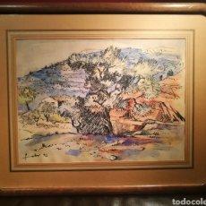 Arte: PAISAJE IBICENCO POR WILL FABER (1901-87). Lote 192481027