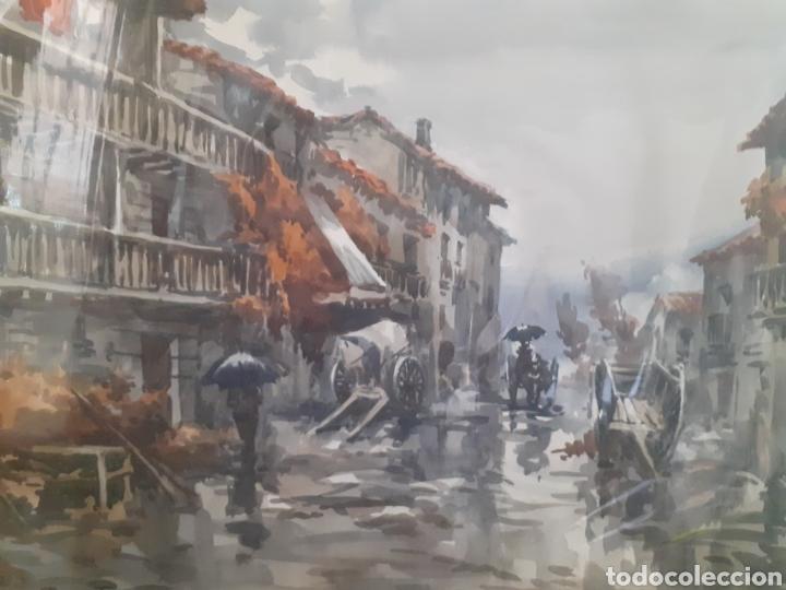 Arte: Acuarela de olot, Girona por Mariano Brunet - Foto 2 - 192555576