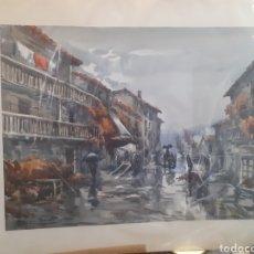 Arte: ACUARELA DE OLOT, GIRONA POR MARIANO BRUNET. Lote 192555576