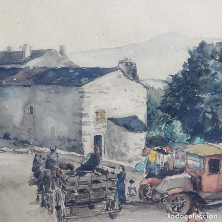 Arte: Excelente Acuarela de Joan Colom i agusti (Arenys de mar 1879-bcn 1969).Sala Gaspar. - Foto 3 - 192757303