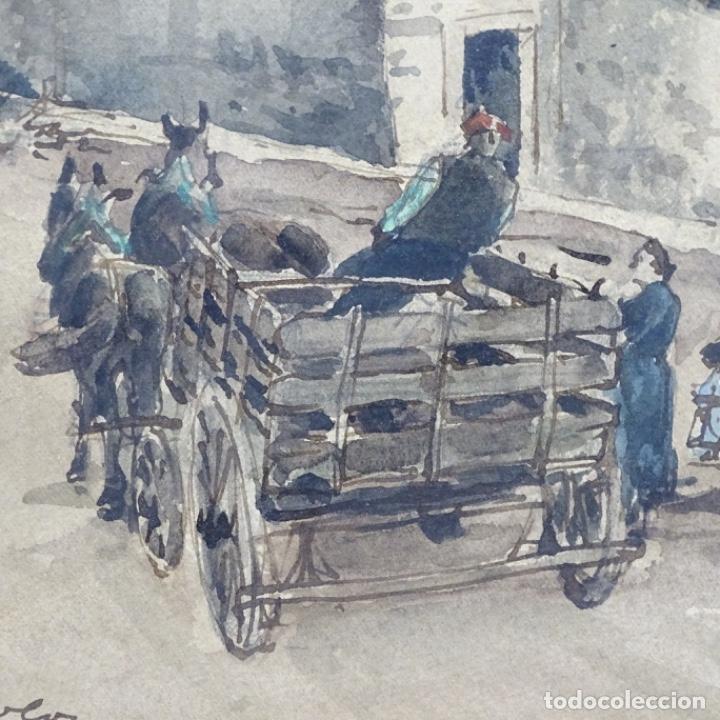 Arte: Excelente Acuarela de Joan Colom i agusti (Arenys de mar 1879-bcn 1969).Sala Gaspar. - Foto 5 - 192757303
