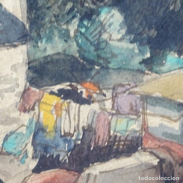 Arte: Excelente Acuarela de Joan Colom i agusti (Arenys de mar 1879-bcn 1969).Sala Gaspar. - Foto 7 - 192757303
