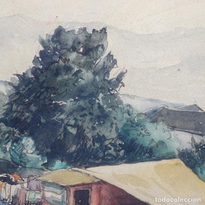Arte: Excelente Acuarela de Joan Colom i agusti (Arenys de mar 1879-bcn 1969).Sala Gaspar. - Foto 8 - 192757303