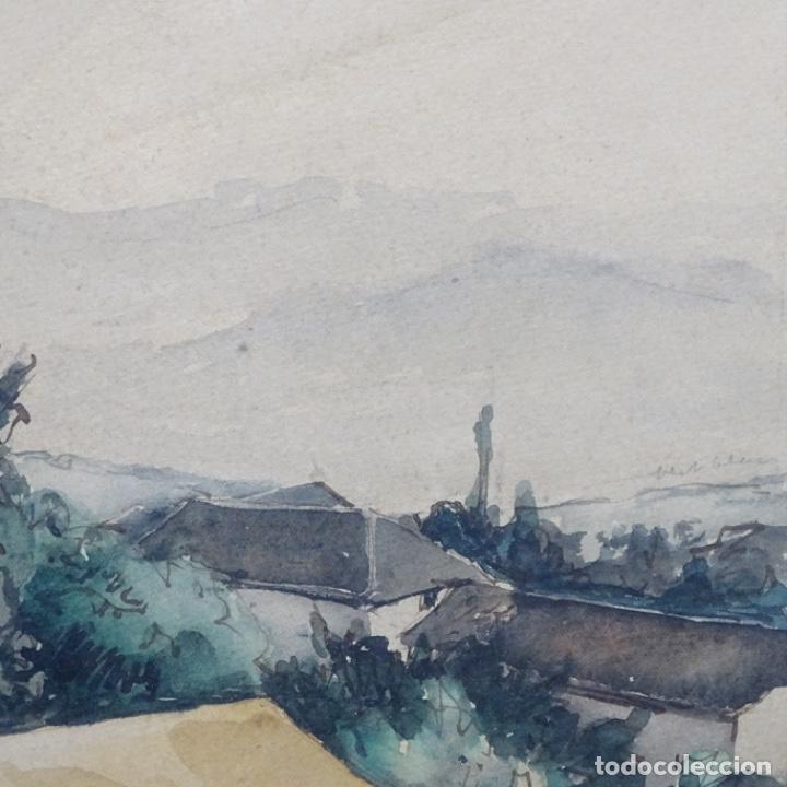 Arte: Excelente Acuarela de Joan Colom i agusti (Arenys de mar 1879-bcn 1969).Sala Gaspar. - Foto 9 - 192757303