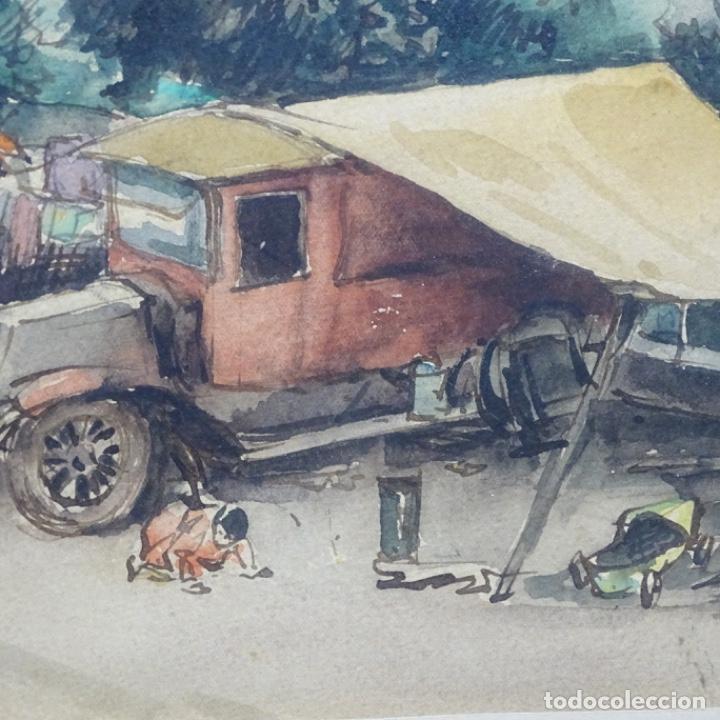 Arte: Excelente Acuarela de Joan Colom i agusti (Arenys de mar 1879-bcn 1969).Sala Gaspar. - Foto 11 - 192757303