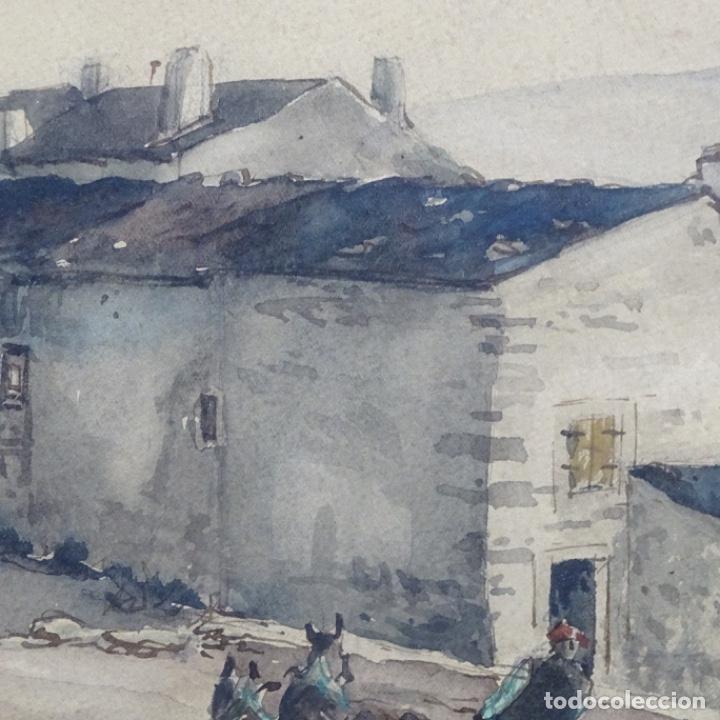Arte: Excelente Acuarela de Joan Colom i agusti (Arenys de mar 1879-bcn 1969).Sala Gaspar. - Foto 12 - 192757303