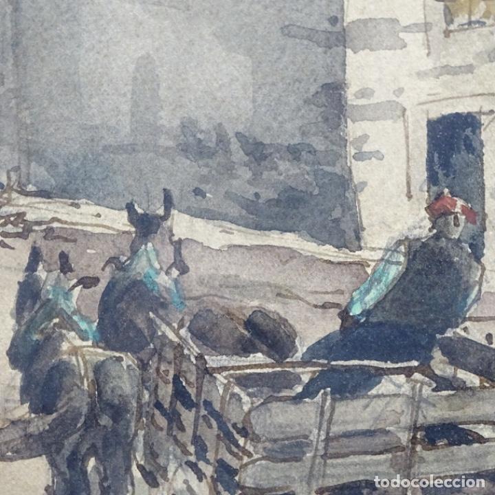 Arte: Excelente Acuarela de Joan Colom i agusti (Arenys de mar 1879-bcn 1969).Sala Gaspar. - Foto 13 - 192757303