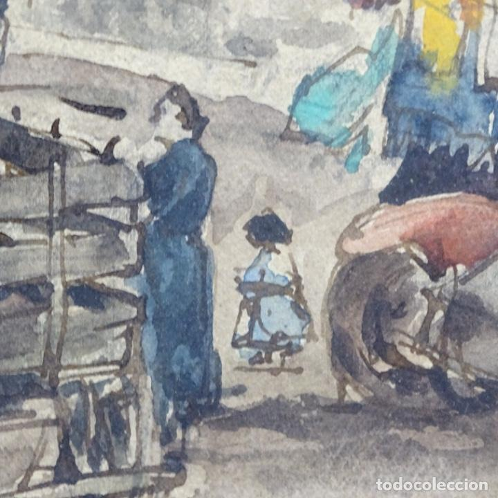 Arte: Excelente Acuarela de Joan Colom i agusti (Arenys de mar 1879-bcn 1969).Sala Gaspar. - Foto 14 - 192757303