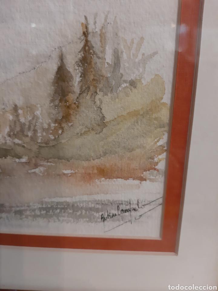 Arte: 27x18 Acuarela Anton Campelo Lugo - Foto 2 - 192880112