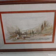 Arte: 27X18 ACUARELA ANTON CAMPELO LUGO. Lote 192880112
