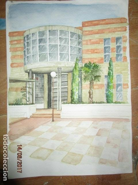 Arte: ANTIGUA ACUARELA ORIGINAL EDIFICIO DE ALICANTE - Foto 10 - 193042680