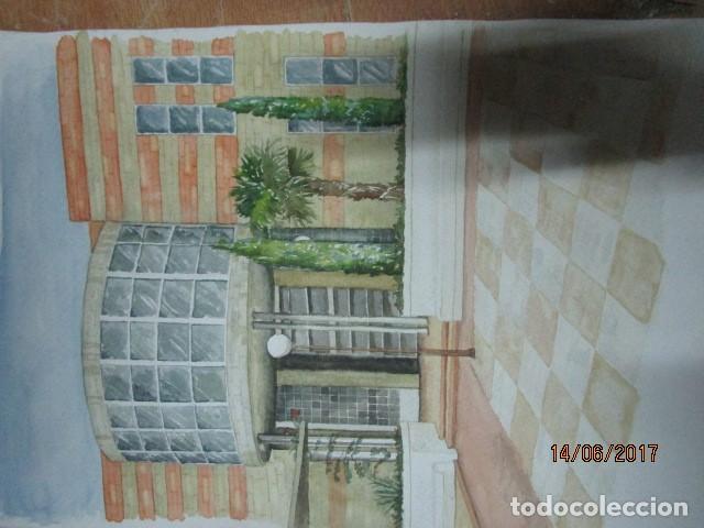 Arte: ANTIGUA ACUARELA ORIGINAL EDIFICIO DE ALICANTE - Foto 2 - 193042680