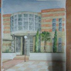 Arte: ANTIGUA ACUARELA ORIGINAL EDIFICIO DE ALICANTE . Lote 193042680