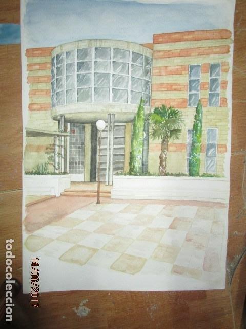 Arte: ANTIGUA ACUARELA ORIGINAL EDIFICIO DE ALICANTE - Foto 6 - 193042680