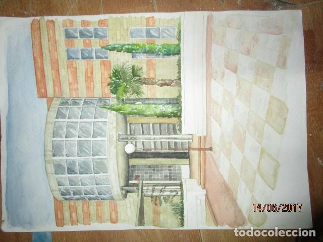 Arte: ANTIGUA ACUARELA ORIGINAL EDIFICIO DE ALICANTE - Foto 7 - 193042680