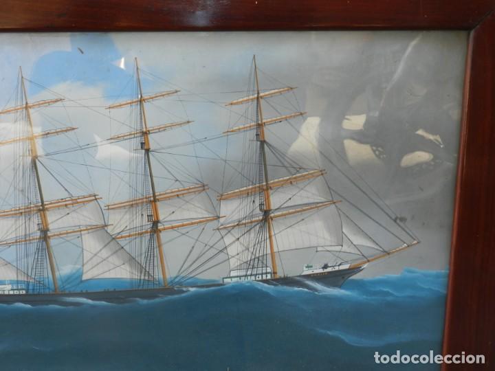 Arte: M) CUADRO CUARELA BARCO NAVIERA AMELIA , SIGLO XIX , SIN FIRMAR , 74X55 CM - Foto 5 - 193612957