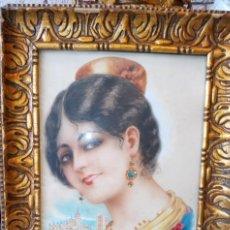 Arte: RAMON MIR ESCUDE (1887-1973) BUSTO FEMENINO ACUARELA. Lote 193737225