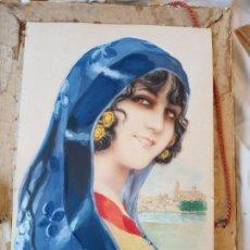 Arte: RAMON MIR ESCUDE (1887-1973) BUSTO FEMENINO ACUARELA. Lote 193739445