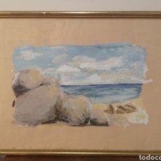 Arte: PRECIOSA MARINA, ACUARELA, FIRMADA RACAJ, 51X36CM ENMARCADA. Lote 232849230