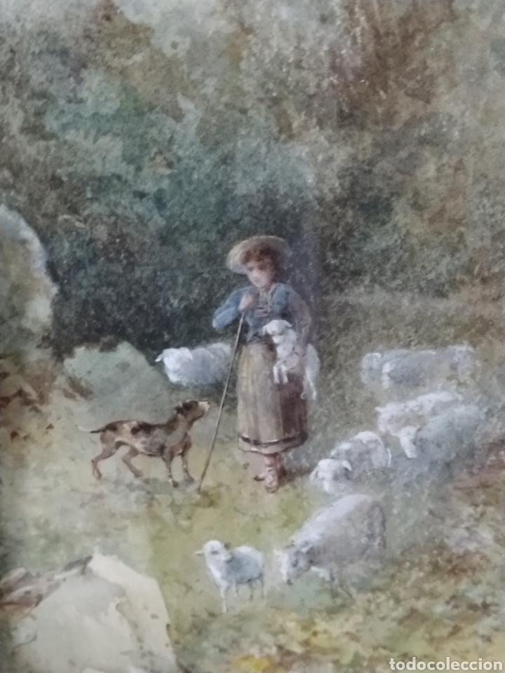 Arte: Acuarela firmada Flores. Buena calidad pictórica. - Foto 2 - 193848541