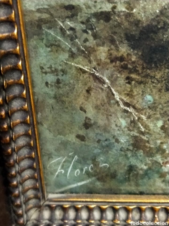 Arte: Acuarela firmada Flores. Buena calidad pictórica. - Foto 7 - 193848541
