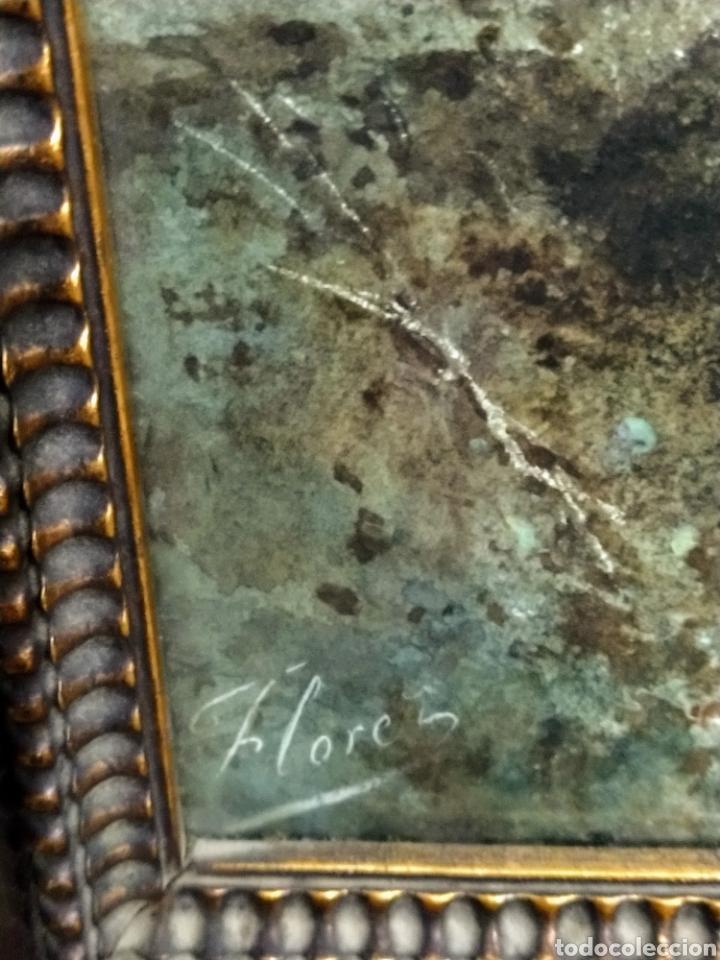Arte: Acuarela firmada Flores. Buena calidad pictórica. - Foto 8 - 193848541