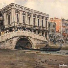Arte: CHERUBINI GIUSEPPE (1867-1960) PINTOR ITALIANO. ACUARELA SOBRE PAPEL. . Lote 193936476