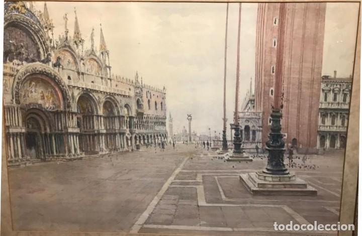 CHERUBINI GIUSEPPE (1867-1960) PINTOR ITALIANO. ACUARELA SOBRE PAPEL (Arte - Acuarelas - Modernas siglo XIX)