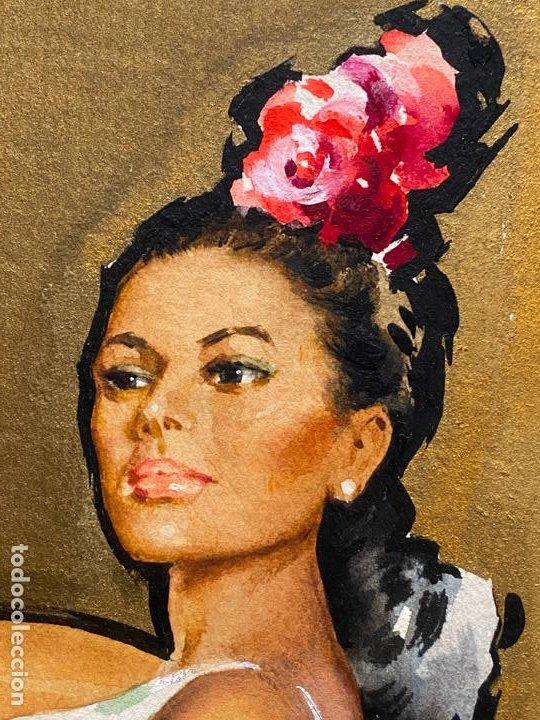 Arte: ACUARELA ORIGINAL PARA ETIQUETAS DE PASAS DE MÁLAGA , OBRA SIN FIRMAR , - Foto 2 - 194011850