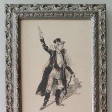 Arte: JOSÉ ROY: DIBUJO A PLUMA Y GOUACHE, 1895. Lote 194117903
