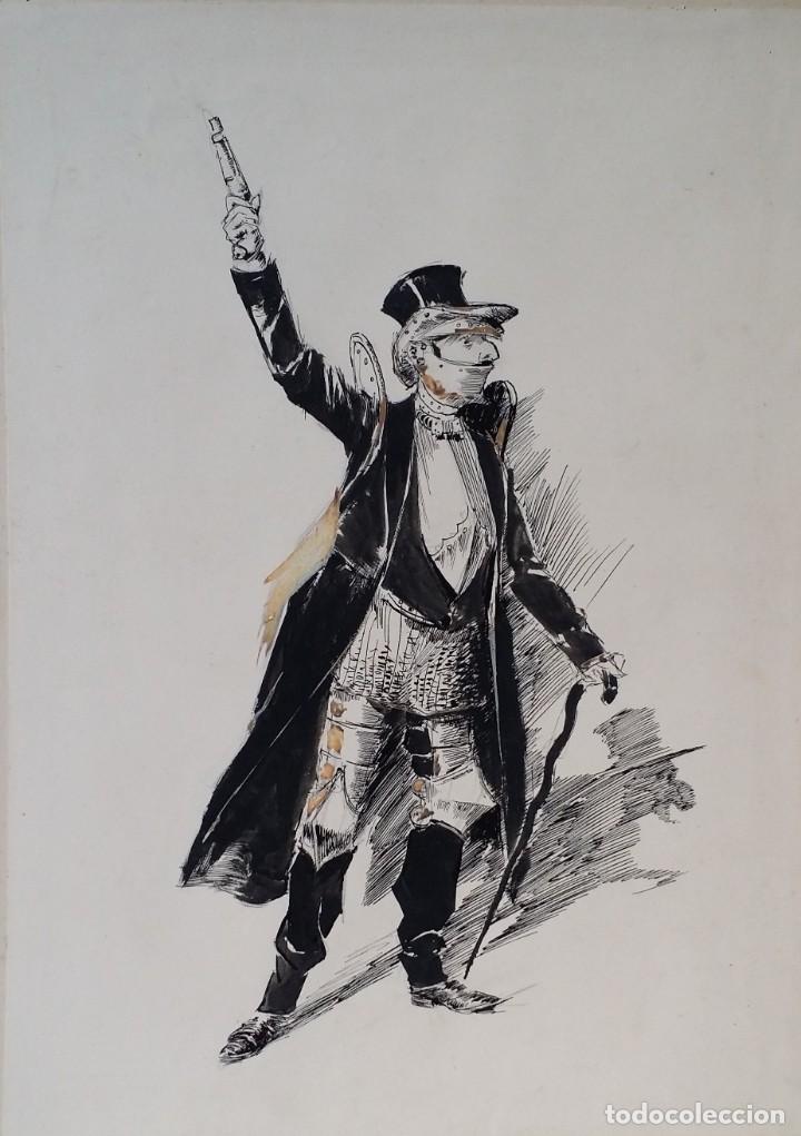 Arte: José ROY: dibujo a pluma y gouache, 1895 - Foto 3 - 194117903