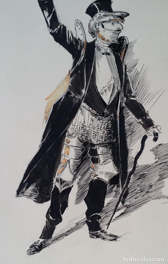 Arte: José ROY: dibujo a pluma y gouache, 1895 - Foto 4 - 194117903