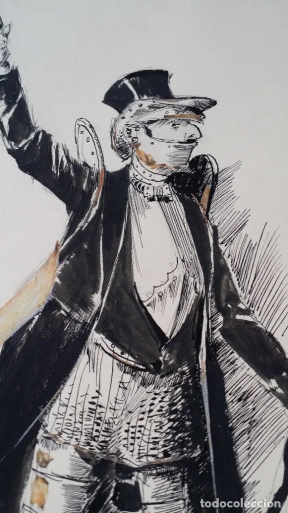 Arte: José ROY: dibujo a pluma y gouache, 1895 - Foto 5 - 194117903