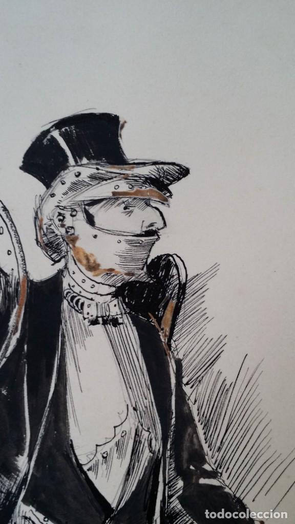 Arte: José ROY: dibujo a pluma y gouache, 1895 - Foto 7 - 194117903