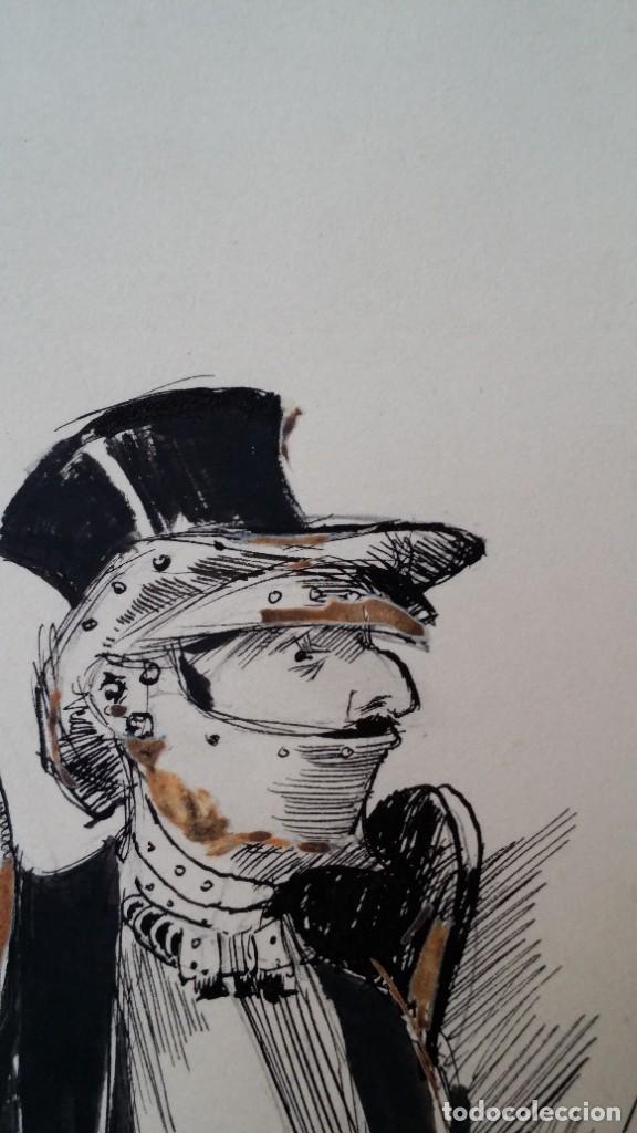 Arte: José ROY: dibujo a pluma y gouache, 1895 - Foto 8 - 194117903