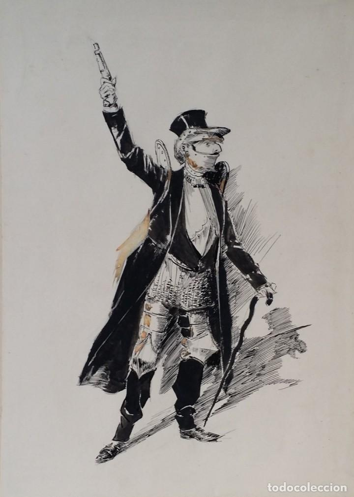 Arte: José ROY: dibujo a pluma y gouache, 1895 - Foto 18 - 194117903