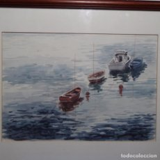Arte: ACUARELA DE JUAN CARDELLACH.MARINA.. Lote 194158036