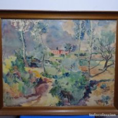 Arte: GRAN ACUARELA DE RAMON CAMI 1940.ALREDEDORES DE TERRASSA.. Lote 194162433