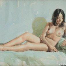 Arte: DESNUDO CHICA, BURGUETE. Lote 194162908